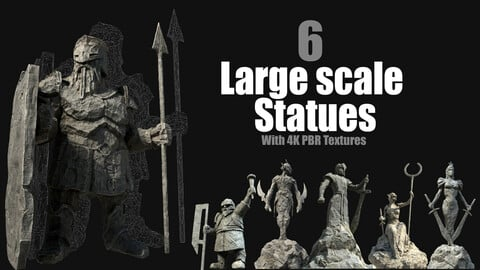 6 Large Scale Statues