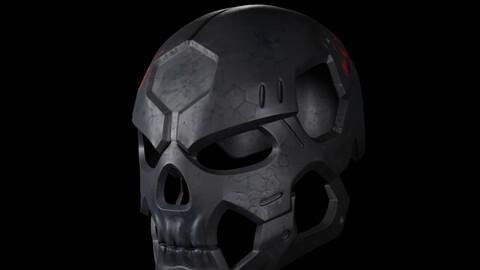 Printable Skull Helmet (STL)