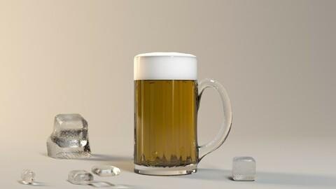 Beer draft beer drink cold drink whiskey ice ice Tsingtao beer brave