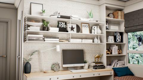 Scandinavian Style Interior - FBX | OBJ | 3DSMAX | UE