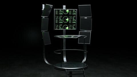 Sci-Fi Spaceship Control Center