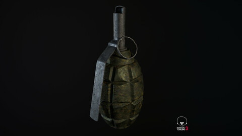 Grenade PBR Low-Poly Game Ready