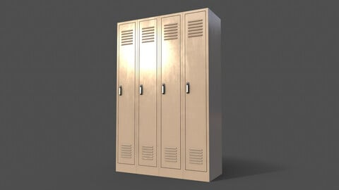 PBR School Gym Locker 02 - White