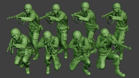 American soldiers ww2 A12 Pack 1