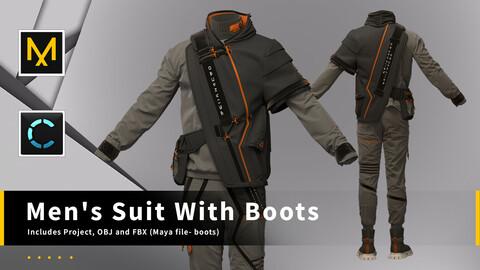 Men's suit with boots