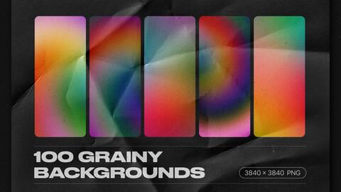 Grainy backgrounds - 100 retro gradients pack