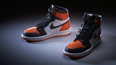 Nike Air Jordan 1 3D Model - Production Ready