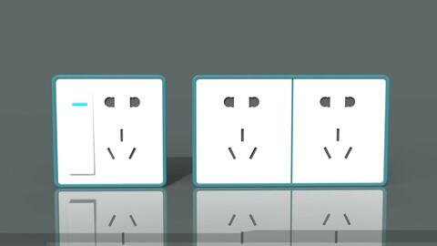 Socket socket house switch socket TV socket computer socket power