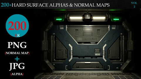 200+HARD SURFACE ALPHAS & NORMAL MAPS-VOL 2