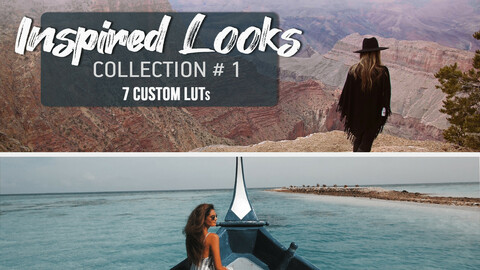 Inspired Looks Collection #1 | LUTs for Final Cut, Premiere Pro, DaVinci Resolve, Filmora, Photoshop | Professional Color Grading LUTs