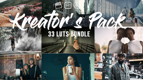 Kreator's Pack – 33 professional LUTs for Color Grading
