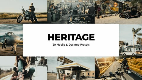20 Heritage LUTs and Lightroom Presets