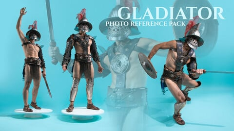 Gladiator vol. 1 Photo Reference Pack For Artists 584 JPEGs