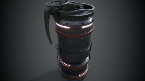 Sci-fi Futuristic Grenade Bomb
