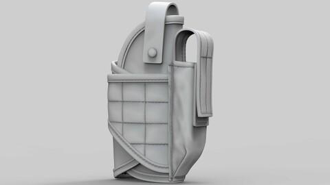 Tactical Pistol Holster (ztl/obj files)