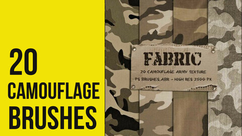 20 Camouflage Fabric Texture Brushes for Photoshop