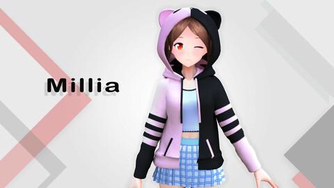 Millia Original - VRChat/Game Ready