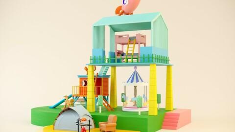Tent barbecue amusement merry-go-round rocket MEIchen DP