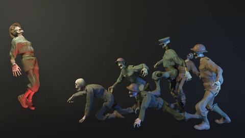 WW1 Skeletons Soldiers