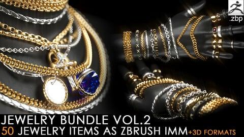 jewelry imm brush vol.2 + 3d print format (chain, ring, pendant)