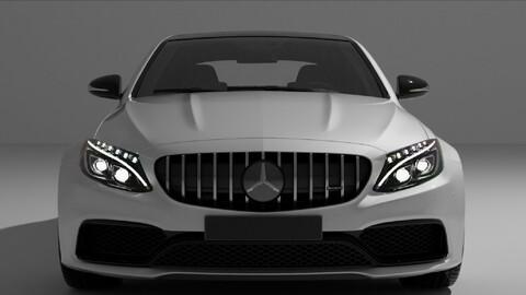 Mercedes Benz AMG Supercar White