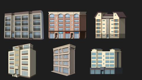 Cartoon building  house