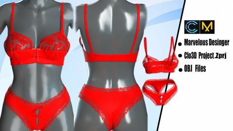 Set of Women's Underwear