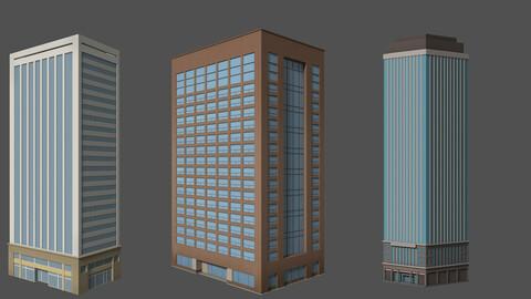 Cartoon high building house