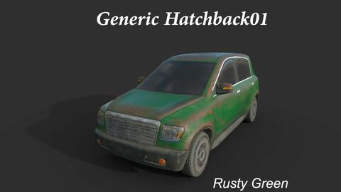 Generic Hatchback 01 Rusty Green