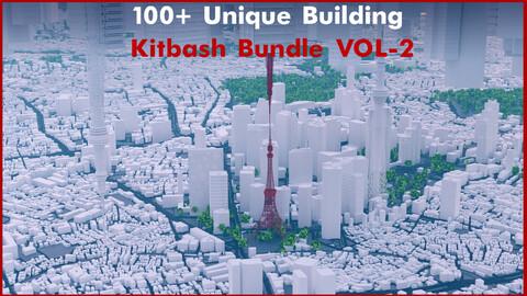 100+ Unique Building Kitbash Bundle VOL-2