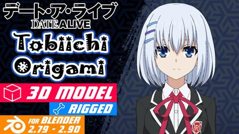Tobiichi Origami - Date a Live Anime Model 3D