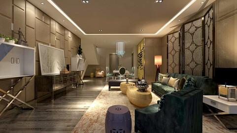 Fashion luxury villa reception living room - 68