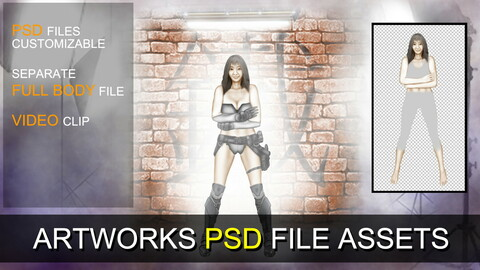 PSD SOURCES for CUSTOMIZATION - Cyberpunk Girl