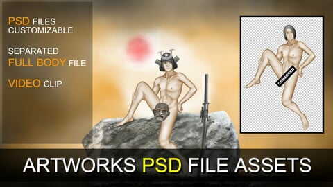 PSD SOURCES for CUSTOMIZATION - Lonely Samurai