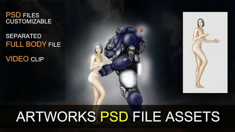 PSD SOURCES for CUSTOMIZATION - Lover in the Future