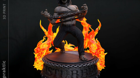 The Guy Mascot of the band Disturbed 3D print model