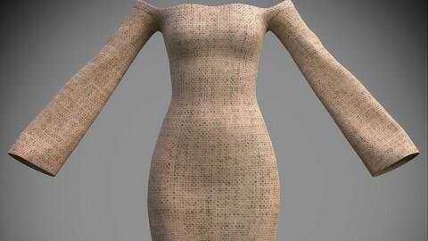 Female Vintage dress -3D fitted dress