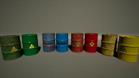Oil Drum Variants (Bio, Diesel, Flamable, Nuclear)