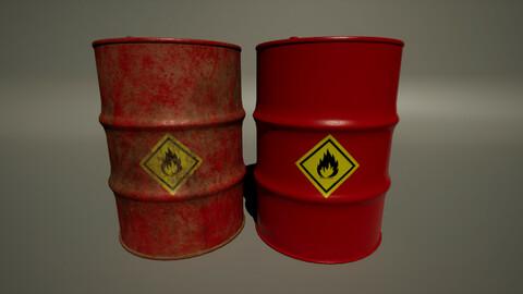 Flammable Drum
