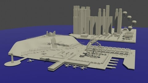 Blender City Scape in 3D