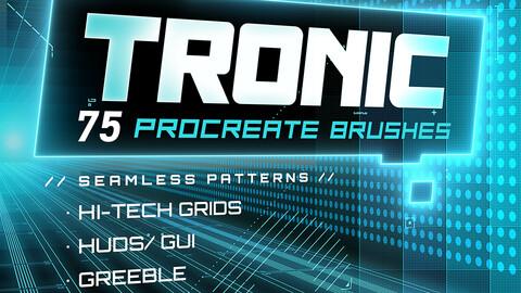 // T R O N I C // - 75 Hi-Tech Procreate Brushes