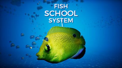 Fish School System V1 UE4
