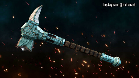 Axe_Low-Poly_PBR_textures