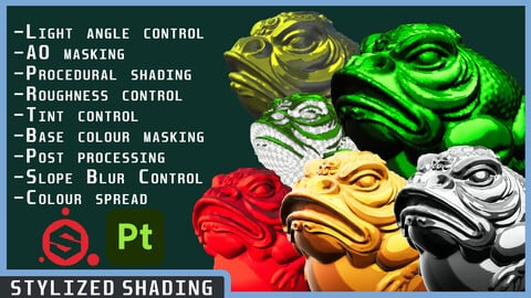 Smart Material | Stylized Procedural Lighting/Shading  for Substance Painter SBSAR