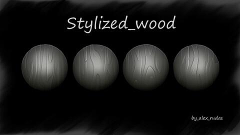 Stylized wood alphas