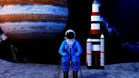 Protective suit rocket Venus exploration satellite communication