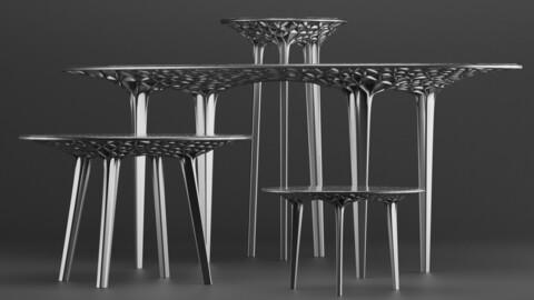 Sedona Tables & Stool by Janne Kyttanen