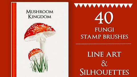 Procreate Brushes | Wild Mushroom Stamp Brushes