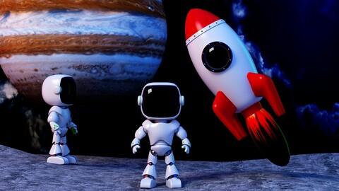 Super cute astronaut cute astronaut cartoon astronaut rocket oligo