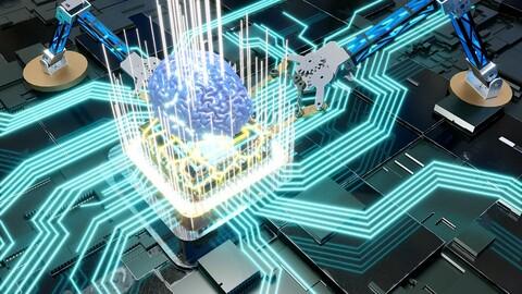 Human brain intelligent robot arm chip 5G AI chip technology chip